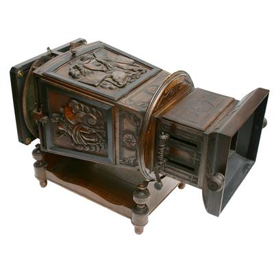 BOITE OPTIQUE vers 1862. « MEGALETHOSCOPE », Venise, Italie